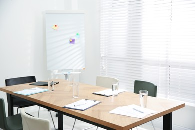 Conference room interior with modern office table