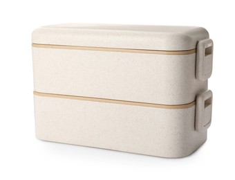 Eco friendly lunch boxes on white background. Conscious consumption