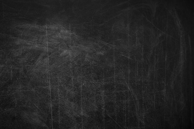 Dirty black chalkboard as background. Space for text
