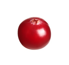 Fresh red cranberry isolated on white. Healthy snack