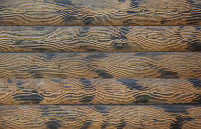 Textured wooden surface as background, top view