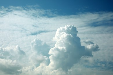 Beautiful sky with white clouds on sunny day