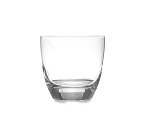 New clean empty glass isolated on white