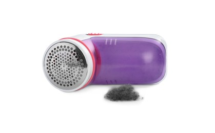 Modern fabric shaver and lint on white background