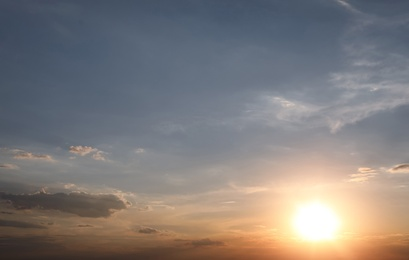 Picturesque view of beautiful morning sky. Natural sunrise