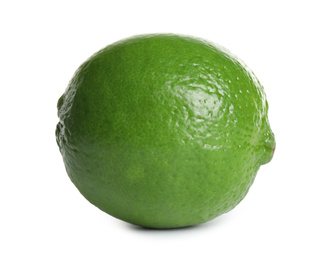 Fresh green ripe lime isolated on white