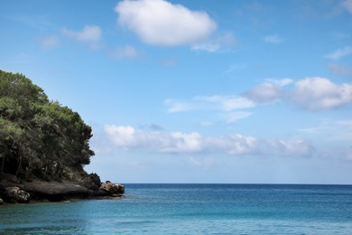 Beautiful view of sea and rocky coast on nice summer day