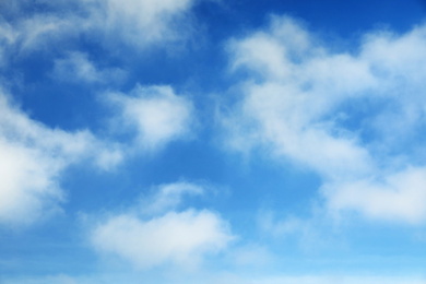 Picturesque view of beautiful blue sky with clouds