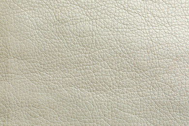 Texture of white leather as background, closeup