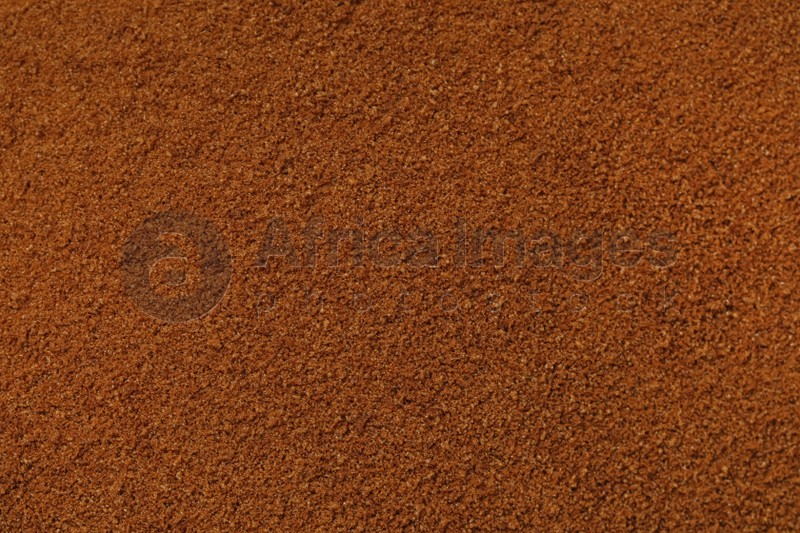 Pile of chicory powder as background, top view