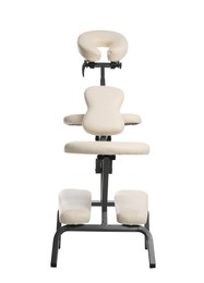 Modern massage chair isolated on white. Medical equipment