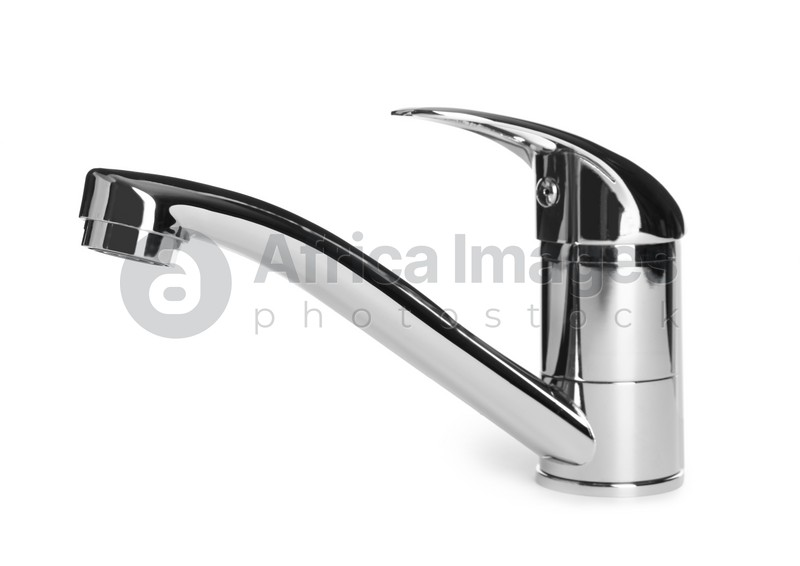 Single handle water tap isolated on white