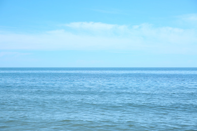 Picturesque view of beautiful sea water and blue sky
