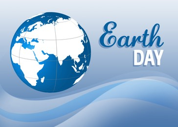 Happy Earth Day. Illustration of planet on color background