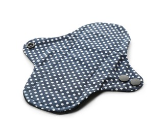 Cloth menstrual pad isolated on white. Reusable female hygiene product