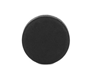 Activated charcoal pill isolated on white. Potent sorbent