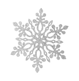Beautiful snowflake on white background. Decoration for winter holidays