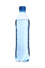 Plastic bottle with pure water isolated on white