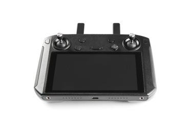 New modern drone controller isolated on white