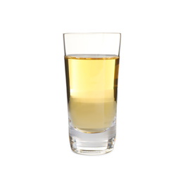 Mexican Tequila in shot glass isolated on white