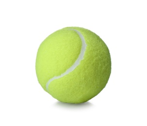 Tennis ball isolated on white. Sports equipment