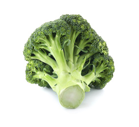 Fresh broccoli isolated on white. Edible green plant