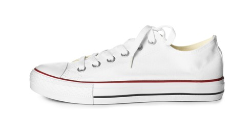 One sneaker isolated on white. Trendy shoes