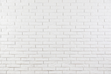White brick wall as background. Simple design