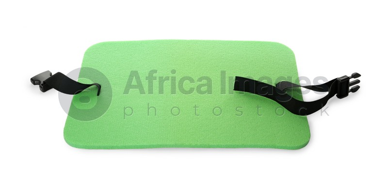 Green foam seat mat for tourist isolated on white