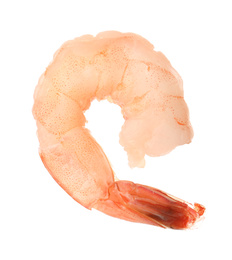 Freshly cooked delicious shrimp isolated on white