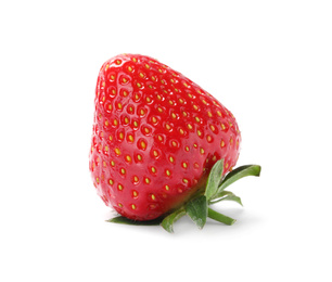 Delicious fresh ripe strawberry isolated on white