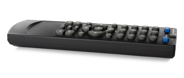 Modern tv remote control isolated on white