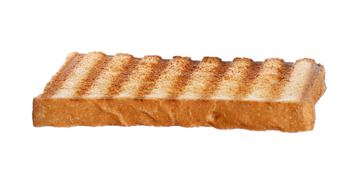 Sliced toasted bread isolated on white. Sandwich ingredient