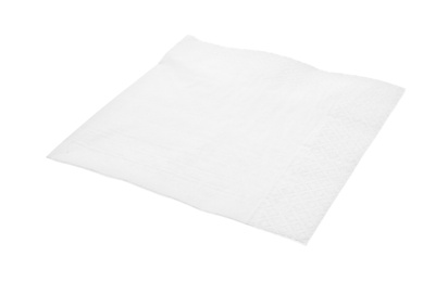 Clean paper tissue on white background. Personal hygiene